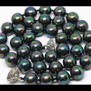 Jewelry - Rainbow black south sea shell pearl necklace